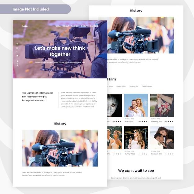 Film maker laning page design Premium Vector