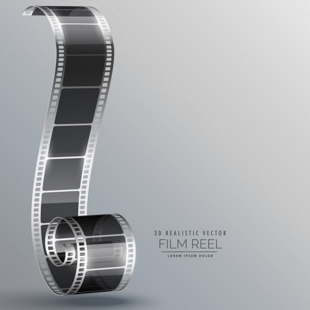 Film strip in 3d style Free Vector