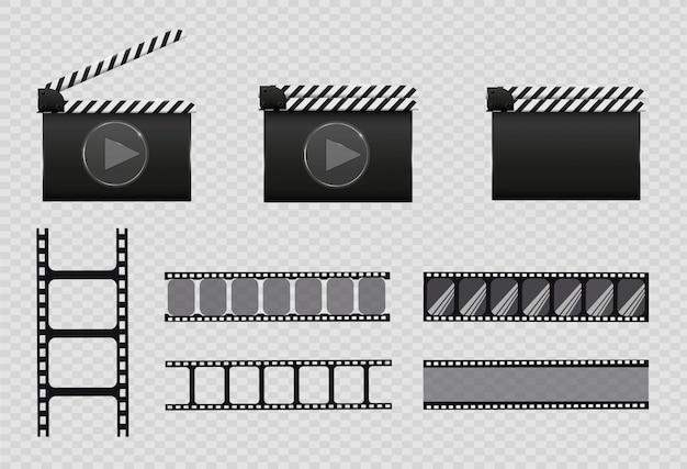 Film strip,   illustration. set Premium Vector