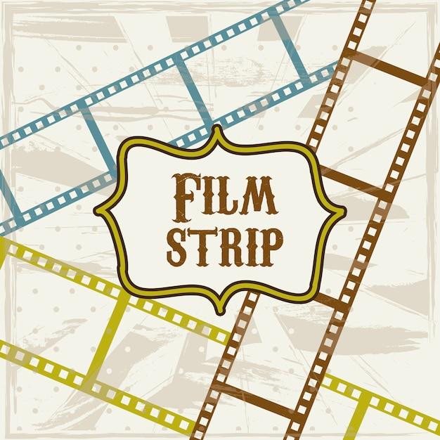 Film stripe over beige background vector illustration Premium Vector