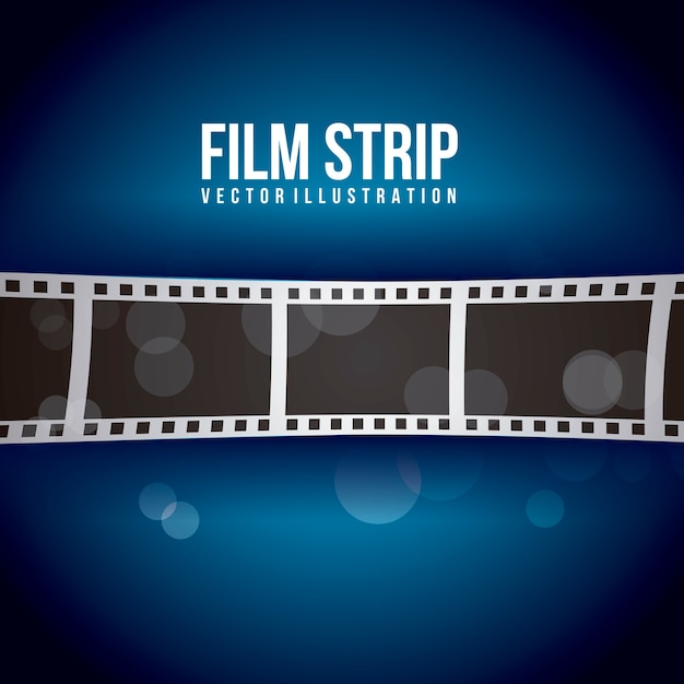 Film stripe over blue background vector illustration Premium Vector