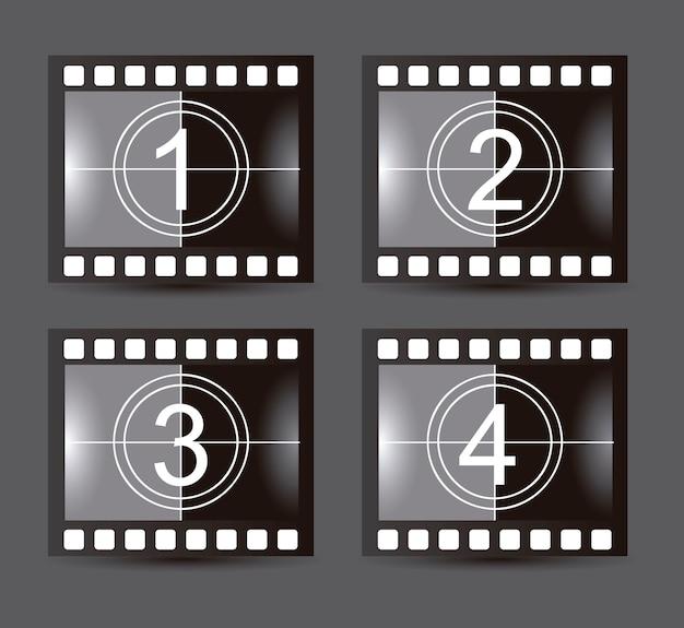 Film stripe over gray background vector illustration Premium Vector