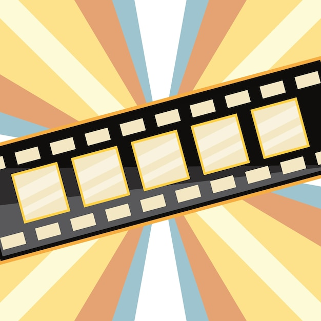 film tape over striped colorful background vector premium download