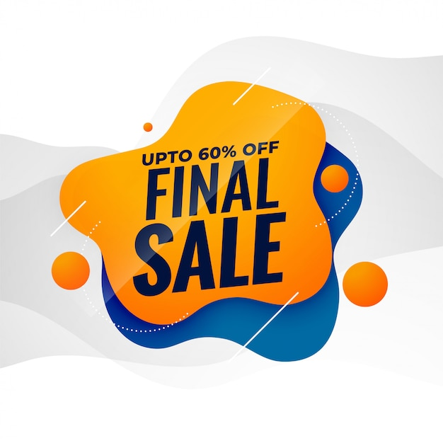 Final sale attractive sale banner poster template Free Vector