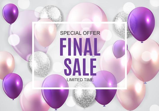 Final sale balloon banner Premium Vector
