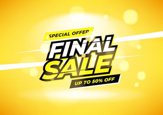 Final sale special offer up banner. Premium Vector