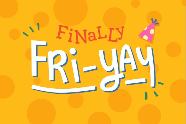 Finally friday weekend background Free Vector