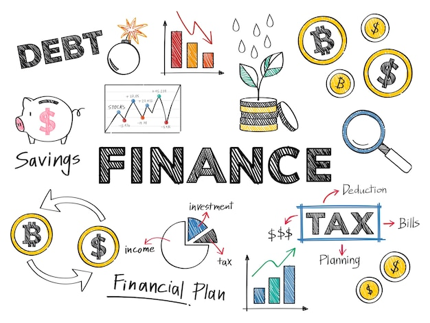 Finance and financial performance concept illustration Free Vector
