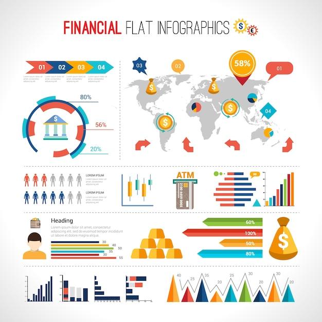 Finance Graphics: Finance Flat Infographic Vector