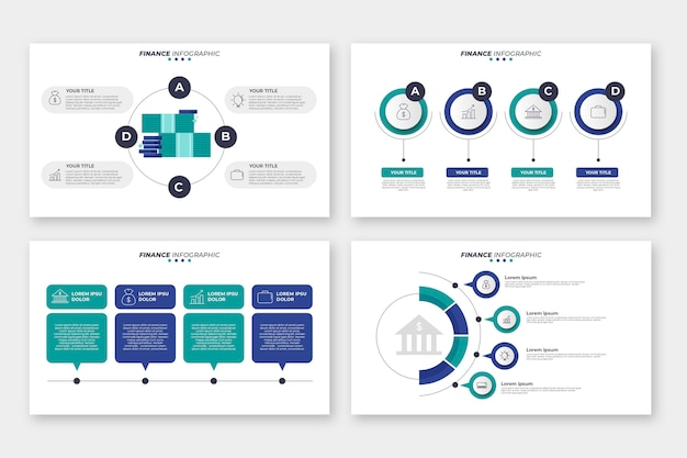Finance infographic style Free Vector