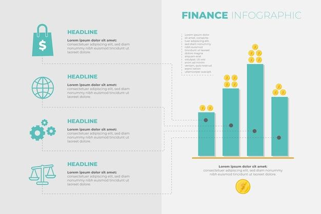 Modello di infografica di finanza Vettore gratuito