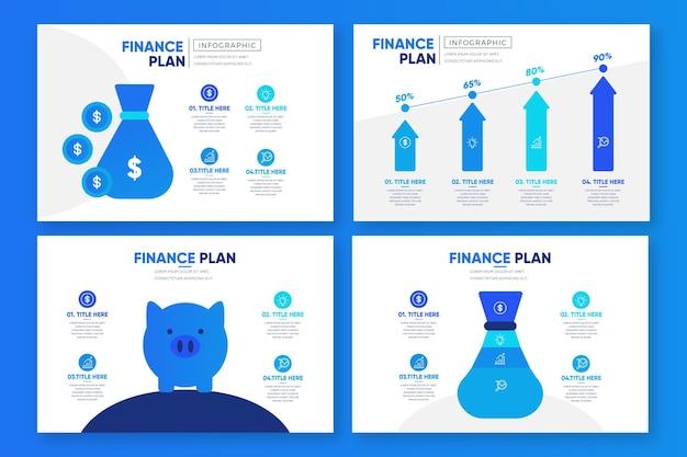 Финансовая инфографика Бесплатные векторы