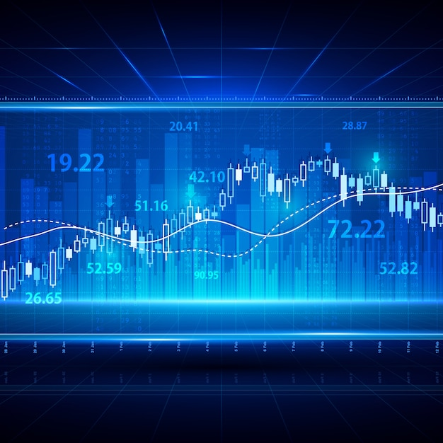 Finance investment stock market exchange background Vector