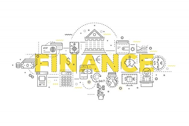 Design lineare finanziario Vettore gratuito