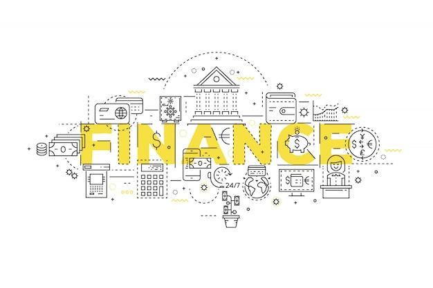 Finance linear design Free Vector