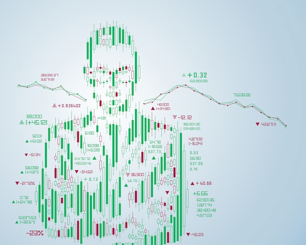 Finance person Premium Vector