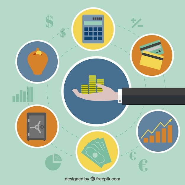 Finance process Free Vector