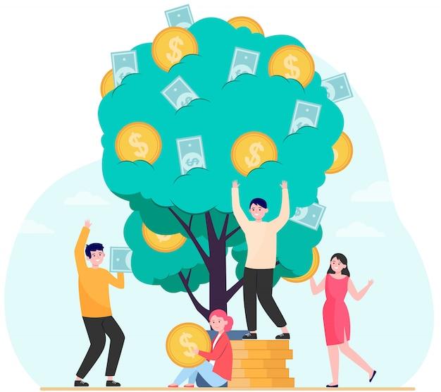 財務、収益、財務成長のコンセプト 無料ベクター