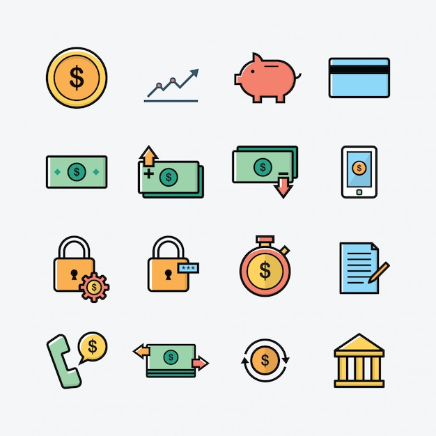 Финансов Premium векторы