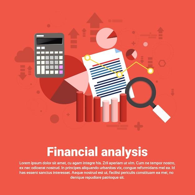 Financial analysis business web banner Premium Vector