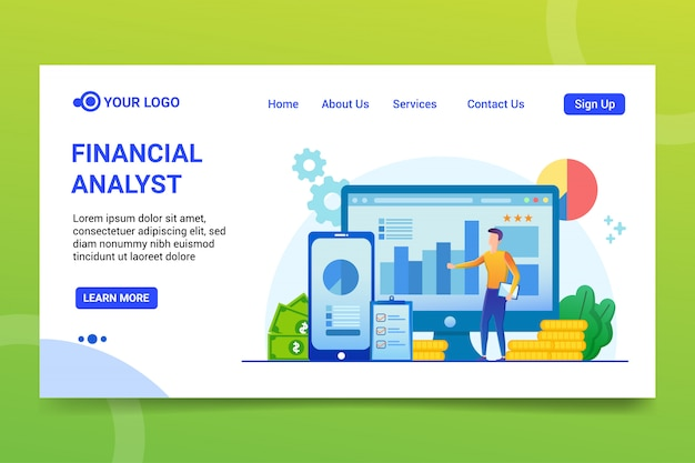 Financial analyst Premium Vector