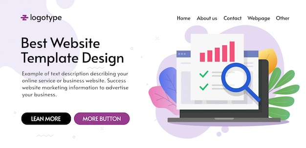 Financial audit landing page Premium Vector