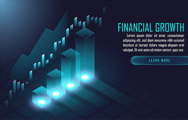 Financial background  template Premium Vector