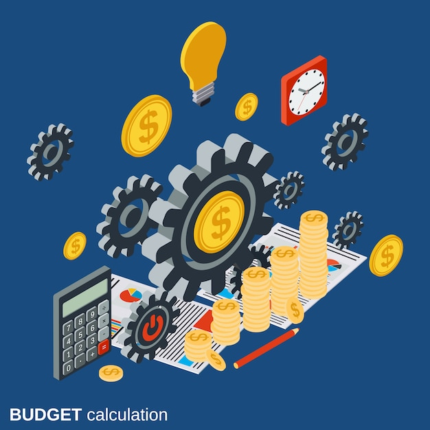 Financial calculation Premium Vector