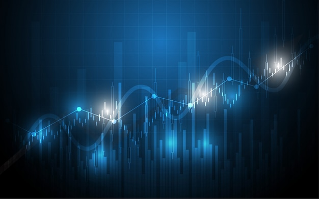 Financial chart candle stick graph business data analysis of stock market investment trading Premium Vector