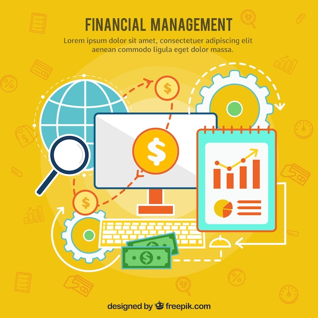 Financial concept with business style