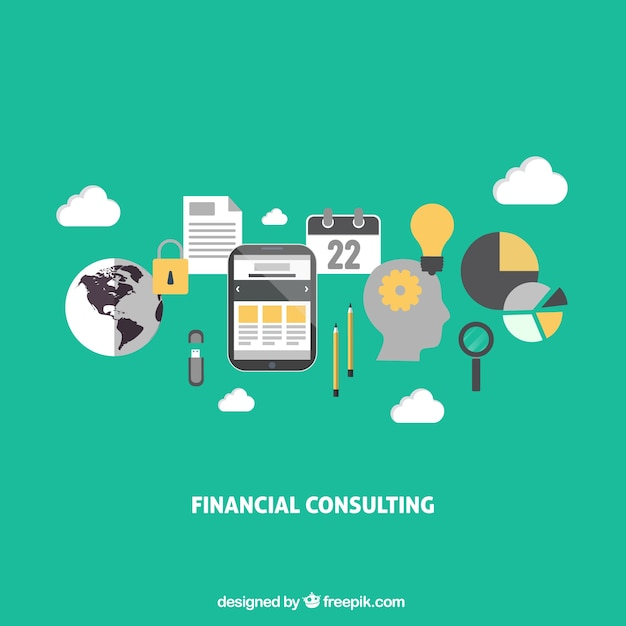 Finance Graphics: Financial Consulting Infographic Vector