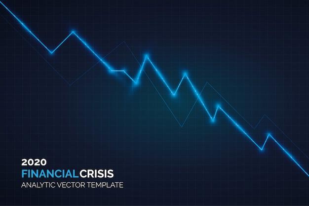 金融危機2020分析グラフィック 無料ベクター