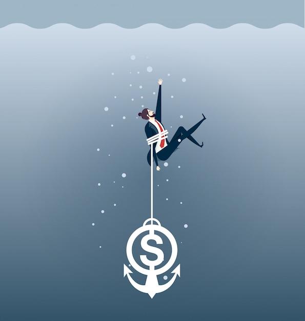 Financial crisis Premium Vector