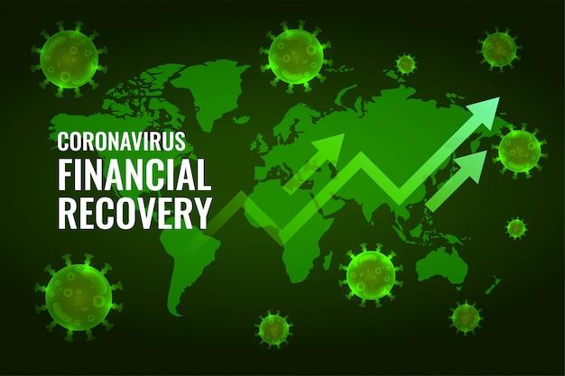 コロナウイルスの影響設計後の金融経済の回復 無料ベクター
