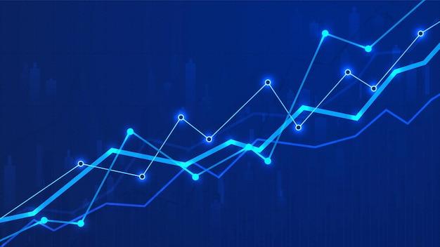 Финансовая диаграмма диаграммы бизнес-данных аналитика иллюстрация Premium векторы