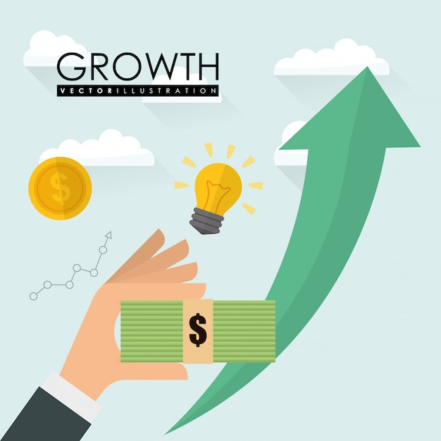 Financial growth design Premium Vector