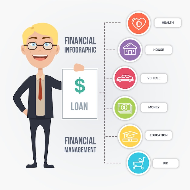 Financial Infographic Template Vector Free Download