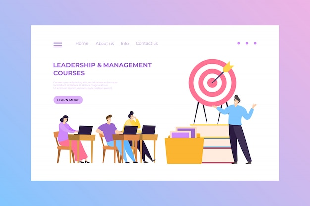 Premium Vector Financial Leadership And Management Course Concept Illustration Landing Business Education For Successful Work Training
