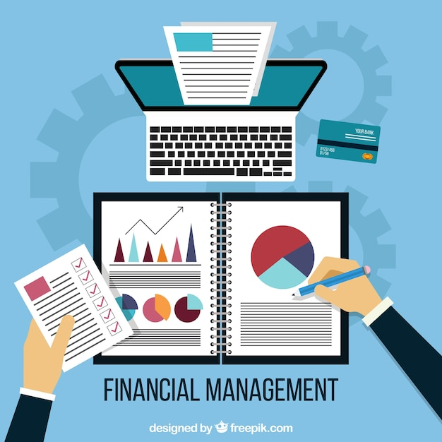 Financial management background Free Vector