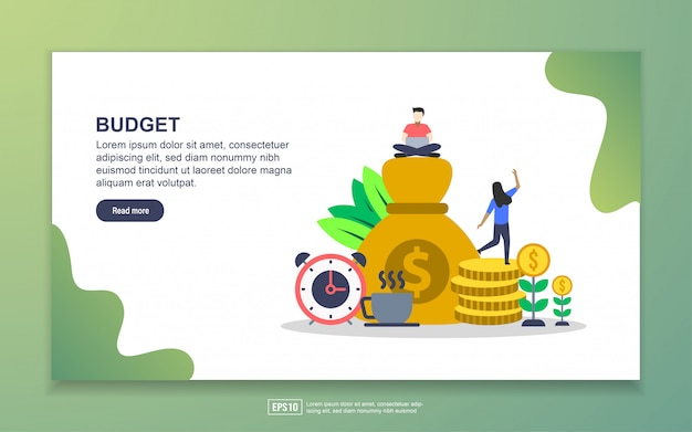 Financial planning and money for business landing page Premium Vector