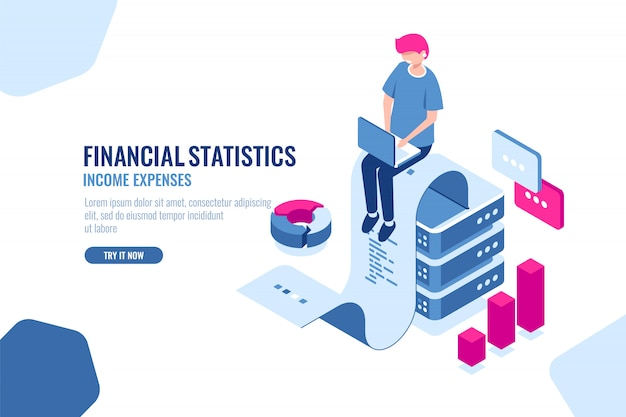 Financial statistics Free Vector