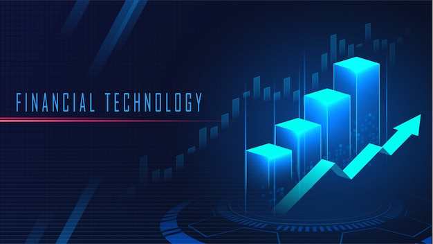 Financial technology graphic concept background Premium Vector