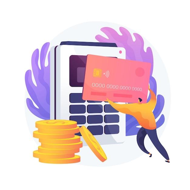 金融取引、マネーオペレーション。支払いオプション、現金およびキャッシュレス、非接触型決済。クレジットカードショッピングのアイデアのデザイン要素。 無料ベクター