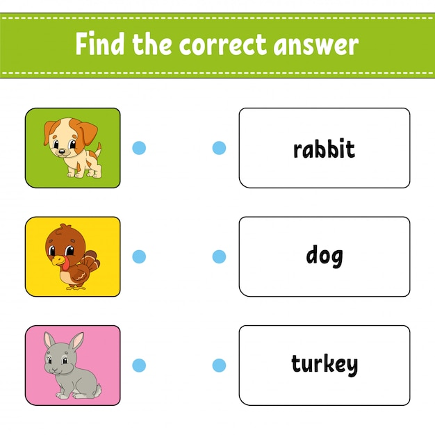 Find the correct answer. Premium Vector