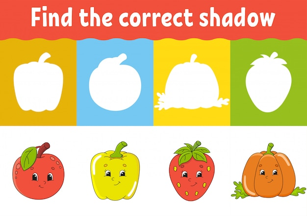 Find the correct shadow Premium Vector