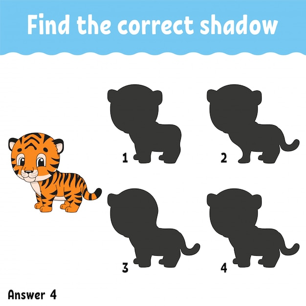 Find the correct shadow. Premium Vector