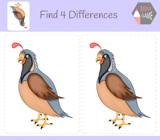 Find differences Premium Vector