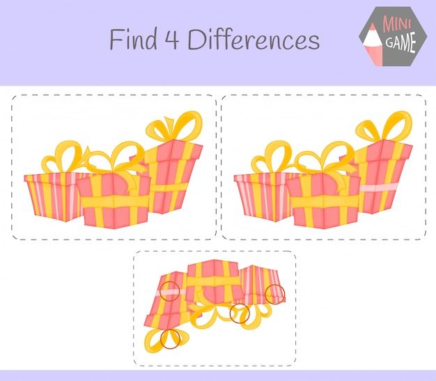 Find differences Premium Vector