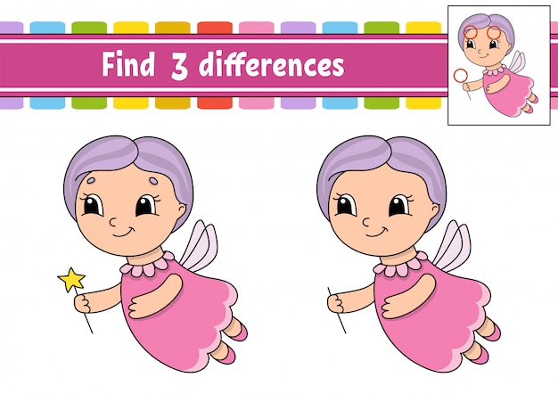 Find differences. Premium Vector