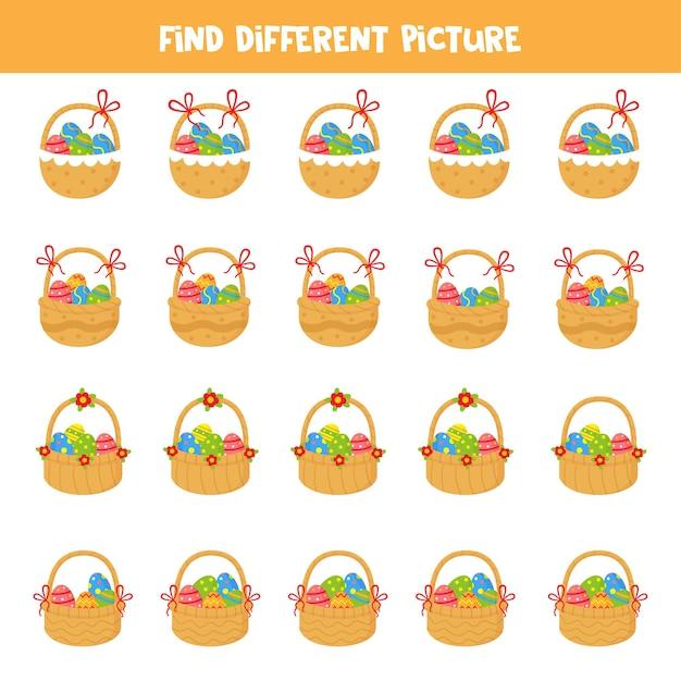 Найдите разные изображения пасхальных корзин Premium векторы